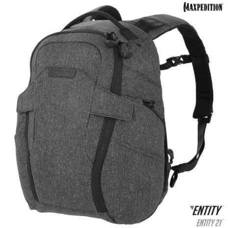 Maxpedition Entity 21 CCW Enabled EDC Backpack 21L Charcoal